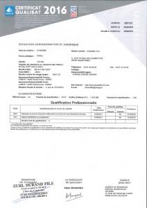 Certification Qualibat - Durand Fils 25